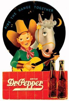 Vintage Dr. Pepper ad.  Found in Google Images.