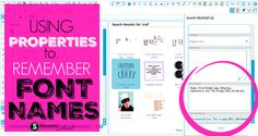 Using Silhouette Studio Properties to Remember Font Names and Styles (Silhouette School) Love Silhouette, Silhouette School Blog, Silhouette Fonts, Silhouette Cameo Tutorials, Silhouette Curio, Silhouette Cameo Machine, Silhouette Portrait, Silhouette Projects, Inkscape Tutorials