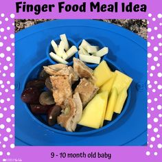 Babies Eating at 10 Months - Lessons By The Lake 10 Months Baby Food, 10 Month Old Baby Food, Picky Toddler Meals, Kids Meals, Toddler Dinners, Toddler Lunches, Mini Appetizers, Healthy Appetizers, Chicken Tenderloin Recipes Healthy