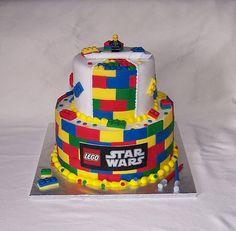 Lego theme birthday cake...my boyfriend would love this