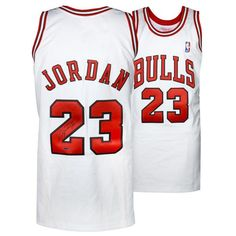 0060f117d Michael Jordan Chicago Bulls Upper Deck Autographed Mitchell   Ness White  Jersey -  2499.99 Michael Jordan
