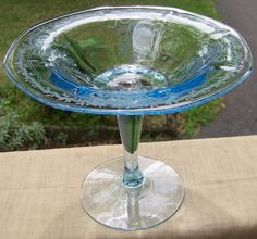 Azure Blue Fostoria June Comport Compote Offered by Ruby Lane Shop Cousins Antiques