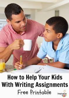 Help your child with writing assignments free printable Help Your Kids With Writing Assignments (3 Positives, 1 Suggestion)