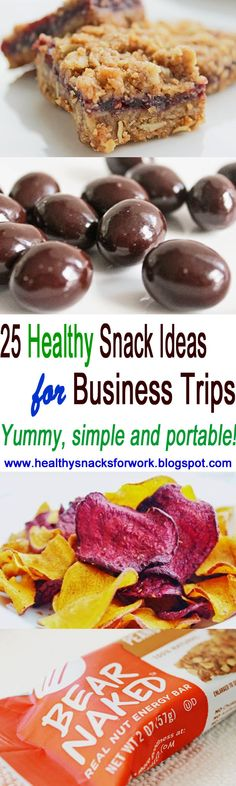 25 healthy snack ideas for business trips. #healthyeating #healthyweightloss