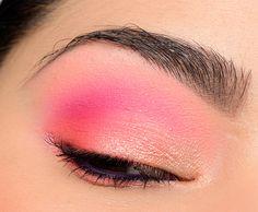 A Bright Gold, Coral, and Pink Look with ColourPop Makeup Guide, Eye Makeup Tips, Makeup Tools, Makeup Inspo, Makeup Brushes, Beauty Makeup, Makeup Inspiration, Makeup Ideas, Makeup Hacks