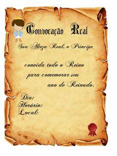 CONVITES ANIVERSÁRIO PARA IMPRIMIR - Convites Digitais Simples Royal Invitation, Scroll Invitation, 18th Party Ideas, Little Prince Party, Barbie Theme, Prince Birthday, Party Kit, Old Paper, Book Journal