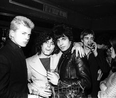 rare billy idol photos | Billy Idol (Generation X), Marc Bolan (T. Rex) and Brian James (The ...