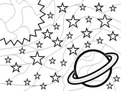 space coloring pages outer space