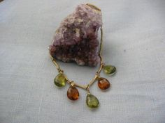 Multi Colored Glass Charms Necklace