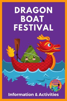 Dragon Boat Festival, or Duanwu Festival, is an important Chinese celebration filled with history and traditions including boat racing, zongzi, and more! Multicultural Crafts, Multicultural Classroom, Geography Of China, Dumpling Festival, China For Kids, Chinese Celebrations, Festival Games, Dragon Boat Festival, Holidays Around The World