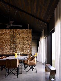 #wood_wall #contemporary #dining_room | Wolveridge Architects — Hill Plains House