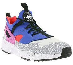 Nike Men\u0027s Air Huarache Utility PRM, WHITE/VL-VARSITY ROYAL-BRIGHT CRIMSON