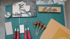 I get asked all the time about what types of carving tools I use to create my fine art printmaking editions. It really depends on what type of lino I am crea...