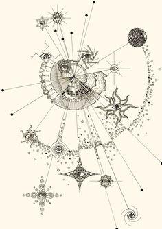 Mehr unter haarp that is tattoostyle Tattoo Style Psychedelic Art, Psychedelic Tattoos, Tattoo Style, Bild Tattoos, Art Plastique, Art Inspo, Art Drawings, Tattoo Drawings, Illustrator