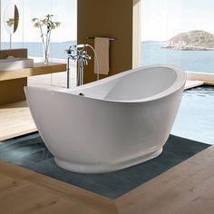 Aquatica PureScape 148 Freestanding Acrylic Bathtub | Overstock.com Shopping - The Best Deals on Soaking Tubs