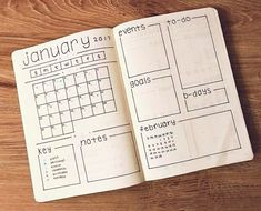 15 Monthly Bullet Journal Spread Ideas That Are Crazy Creative - - Get inspiration for your bullet journal. Monthly bullet journal spread ideas that you need to see! Get inspired, creative and productive this month. Bullet Journal Inspo, Bullet Journal Weekly Spread, Bullet Journal School, Bullet Journal Spreads, January Bullet Journal, Bullet Journal Cover Page, Bullet Journal Aesthetic, Bullet Journal Notebook, Bullet Journal Tracker