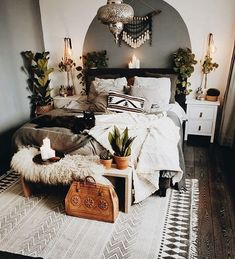 Modern Bedroom Ideas - Searching for the best bedroom design ideas? Utilize these lovely modern bedroom ideas as ideas for your own amazing decorating system . Home Bedroom, Modern Bedroom, Master Bedroom, Bedroom Furniture, Furniture Plans, Kids Furniture, Bedroom Small, Modern Bohemian Bedrooms, Country Furniture
