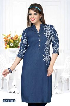 Denim Kurti DK-009   Price: Rs.1,190  The kurtis provided by Denim are designed and stitched with utmost precision under the stern observation of our dedicated team of professionals at KashibaDenim with current fashion trends. Our Available Online Denim Kurtis Collection At: Mumbai,Ahmedabad,,Chennai,        Hyderabad & NewDelhi. #business7days.com