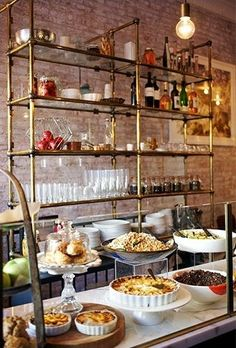 Restaurant Kitchen Shelving open kitchen shelves using our collector's shelving system with