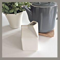 Milk carton jug in off-white