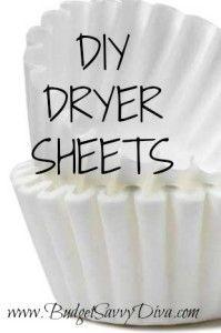 DIY Dryer Sheets   Budget Savvy Diva