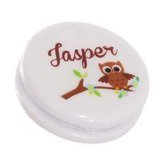 Stickervel met 24 transparante ronde stickers van 4 cm