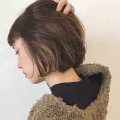Asian Short Hair, Asian Hair, Hair Color Balayage, Ombre Hair, Medium Hair Styles, Short Hair Styles, Hair Mask For Growth, Side Braid Hairstyles, Hair Arrange