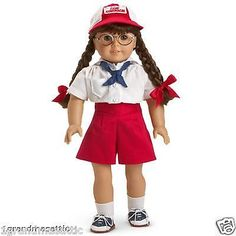 AMERICAN-GIRL-MOLLY-039-S-CAMP-OUTFIT-NIB-NRFB-Doll-Not-Included-Retired-Shorts-Hat