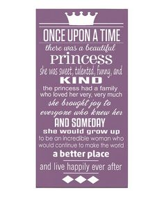 Cream & Pink 'Once Upon a Time' Wall Art | Daily deals for moms, babies and kids