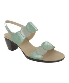 Loving this Green Solar Patent Leather Sandal on #zulily! #zulilyfinds
