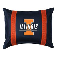 Illinois Fighting Illini Sidelines Pillow Sham