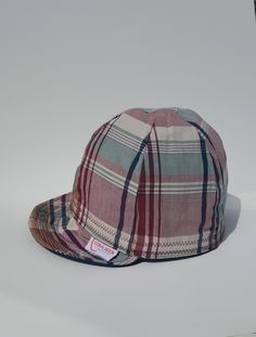 3b8feaf6ac3469 Plaid Reversible Soft Bill Baseball Cap, Plaid Welding Cap, Plaid Cycling  Cap, Plaid Men's Hat Cotton Custom Cap, Boy's Hat, Helmet Liner