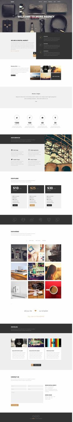 MORE – Creative One Page WordPress Theme