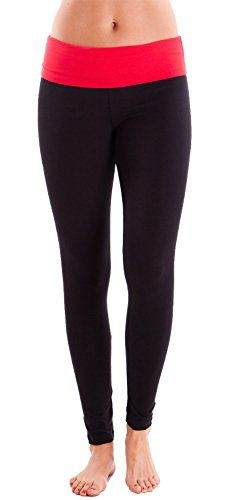 Coral Ladies Fitted Color Block Black Yoga Pants -- You can find out more details at the link of the image.