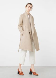 Wide lapel wool-blend coat | MANGO $229.99