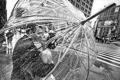 A group of rainy day wedding photos via Pinterest