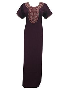 Womans Caftan Kaftan Neck Embroidered Long Dress Night Wear Medium Mogul Interior http://www.amazon.com/dp/B00VNNOYOG/ref=cm_sw_r_pi_dp_Wa3ivb01NB5WF