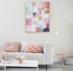 Schilderij | Scandinavisch wonen | Nude tinten | Pasteltinten | kunst Original Art, Couch, The Originals, Furniture, Design, Home Decor, Kunst, Settee, Decoration Home