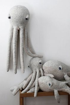 Handmade Big Original Octopus Plush : A big octopus to cuddle for big and small. Are there at Etsy.