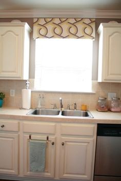 Life at Our House new valance over sink@Jessica McManus