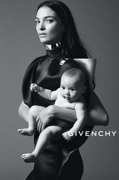 The Essence Of The Givenchy Woman - Journal - I Want To Be A Roitfeld.  Spring 2013 advertising campaign. Mariacarla Boscono and her baby photographed by Mert + Marcus.