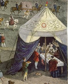 ?? Artwork possibly by Eero Jarnefelt (b.8 Nov 1863 d.15 Nov 1937), Finnish realist painter. Leads to a SCA research blog about Medieval tents. Pic = Medieval Tent in Basel museum (Kunstmuseum, Basel, Switzerland. Website: http://www.kunstmuseumbasel.ch/en/home/)