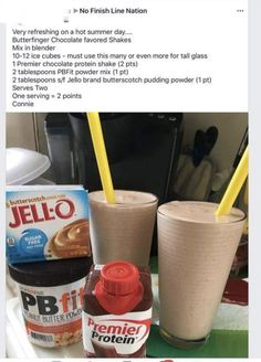 Butterfinger a chocolate protein shake