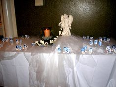 memorial table at a high school reunion