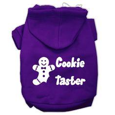 Cookie Taster Screen Print Pet Hoodies Purple Size XL (16)