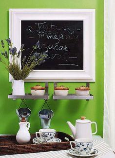 Kitchen chalkboard wall art gestablishment home ideas : kitc Chalkboard Wall Kitchen, Chalkboard Paint, Chalkboard Ideas, Painting Kitchen Cabinets, Kitchen Paint, Kitchen Display, Kitchen Decor, Diy Kitchen, Creative Home