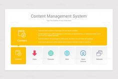 Content Management System CMS Google Slides Diagrams Shape Design, Keynote, Color Change, Management, Diagram, Content, Shapes, Templates, Words