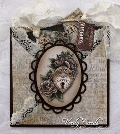 tag & pocket criss-cross card by Liz Walker