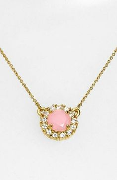 Such a sweet little pink pendant necklace for spring | Kate Spade