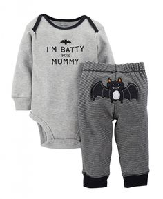 Cute Carter's Baby Boys' 2 Piece Halloween Set (Baby) – Black – Baby Halloween…